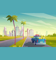 summer travel car vector image