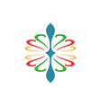 Swirl decoration logo vector image