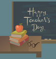teachers day greeting card background vector image vector image