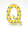 The letter Q of the alphabet made of Quince vector image vector image