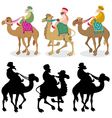Three wise men vector image