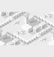 urban isometric area with airport runway airplane vector image vector image