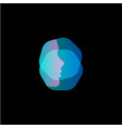 virtual reality modern logo template face vector image vector image