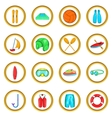 Water Sport Icons set cartoon style vector image vector image