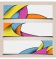 Abstract colorful polygon banners vector image