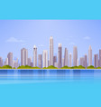 city skyscraper view cityscape background skyline vector image