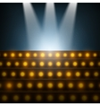 Stairs with Spotlights to Illuminated Stage vector image