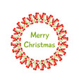a beautiful christmas wreath with red holly vector image