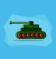a cartoon tank vector image vector image