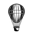 air balloon on white background design element vector image