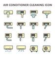 air conditioner clean vector image