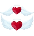 Angel Heart with Wings vector image
