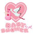 baby shower card invitation etc stork