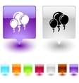 Balloons square button vector image vector image