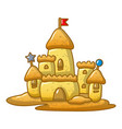 big sand castle icon cartoon style vector image vector image