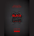 black poster for friday sale vector image