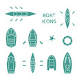 boat icons set vector image vector image
