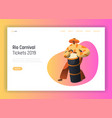 brazil carnival man drum player landing page vector image vector image