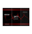 brochure design template abstract waves curves set vector image
