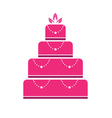 Cake wedding vector | Price: 1 Credit (USD $1)