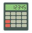 calculator icon cartoon style vector image
