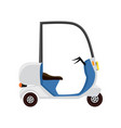 city scooter for courier icon vector image
