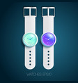 classic swiss stylish mechanical watches vector image