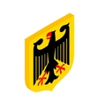 Coat of arms of Germany isometric 3d icon vector image vector image
