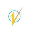 connect electric logo vector image vector image