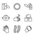 covid19 19 line style icon set design vector image vector image