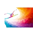 Creative silhouette of gymnastic girl Art vector image vector image