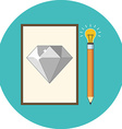 Creativity inspiration concept Flat design Icon in vector image vector image