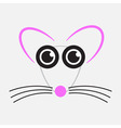 drawing mouse - pink black and gray vector image