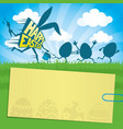 easter with running eggs vector image vector image