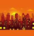 evening cityscape vector image vector image