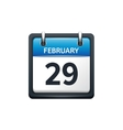February 29 Calendar icon vector image vector image