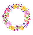 frame with pretty flowers vector image