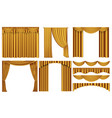 golden luxury curtains and draperies interior vector image vector image