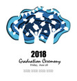 graduation party background in paper art style vector image vector image