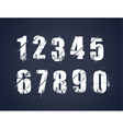 Grunge dirty painted numbers vector image vector image