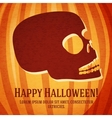 Happy halloween greeting card with carved human vector image vector image