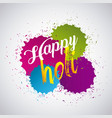 happy holi color gulal powder splashes vector image