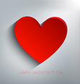 happy Valentines day Abstract paper hearts vector image