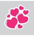 Heart Form Sticker vector image vector image