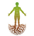 human individuality created with tree roots vector image