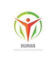 human logo template design element abstract vector image vector image