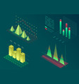 infographic isometric graph elements data vector image vector image