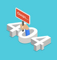 isometric flat concept 404 error page vector image