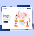 landing page template business intelligence vector image vector image