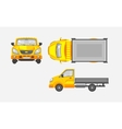 Light truck with trailer top front vector image
